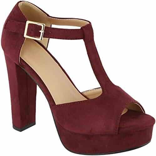 82cba8f6c41c MVE Shoes Womens Stylish Comfortable Open Toe Ankle Buckle Block Heeled  Sandal