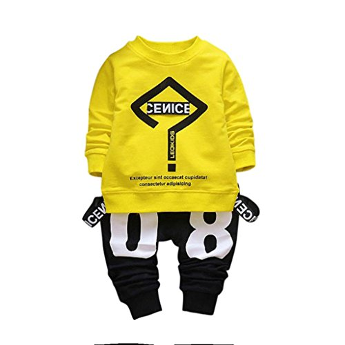 Baby Kids Girls Letters Printed Long Sleeve T-shirts Tops Clothes - 3