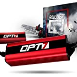 OPT7 Bullet-R H10 9040-9145 HID Kit - 3X Brighter - 3X Longer Life - All Bulb Colors and Sizes - 2 Yr Warranty [6000K Lightning Blue Xenon]