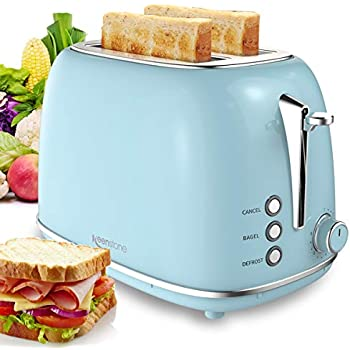 Amazon.com: Toaster 2 Slice, Retro Small Toaster with Bagel ...