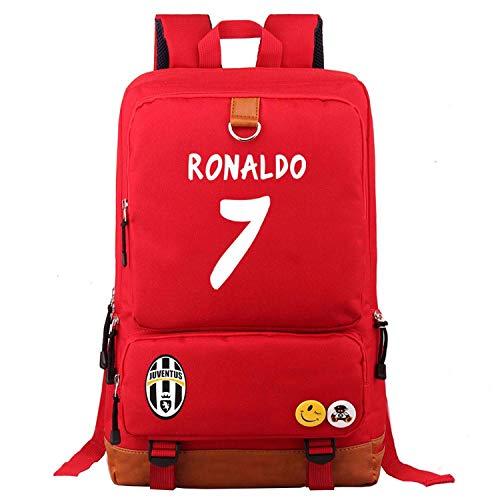 PaPama Kids Cristiano Ronaldo Canvas Backpack for School,Travel-Students Back to School Bookbag Waterproof Rucksack
