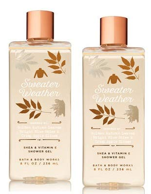 Amazoncom Bath And Body Works 2 Pack Sweater Weather Shower Gel 8