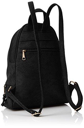 Swanky Madrid Zipper Black Backpack Noir dos Swans portés Bag Sacs raqCrH