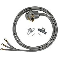 Accesorios para electrodomésticos certificados Cable para secadora de 3 cables con ojal cerrado, 30 amperios, 6 pies