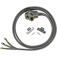 Certified Appliance Accessories 3-Wire Closed-Eyelet 30-Amp Dryer Cord, 6ft