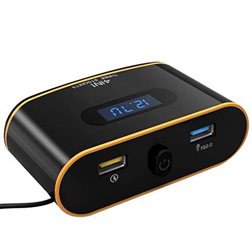 Duoying Cargador de Coche Adaptador de Carga Portátil 120W 3 Agujero del Cigarrillo Coches Universal Cargador USB Agujero...