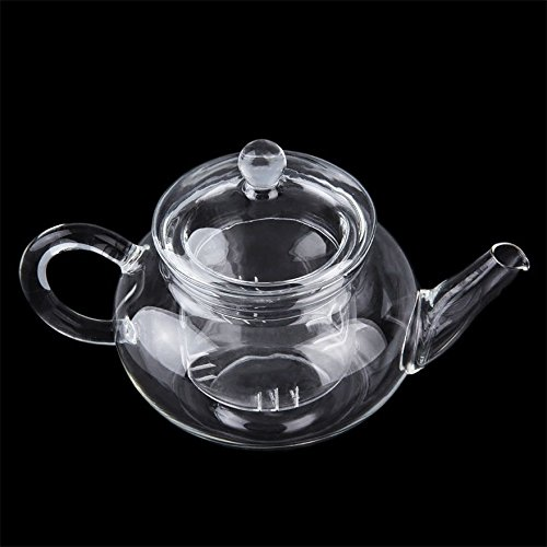 Heat Resistan Glass Teapot With Infuser Coffee Tea Leaf Herbal Pot 250ml SO (250ml Teapot compare prices)
