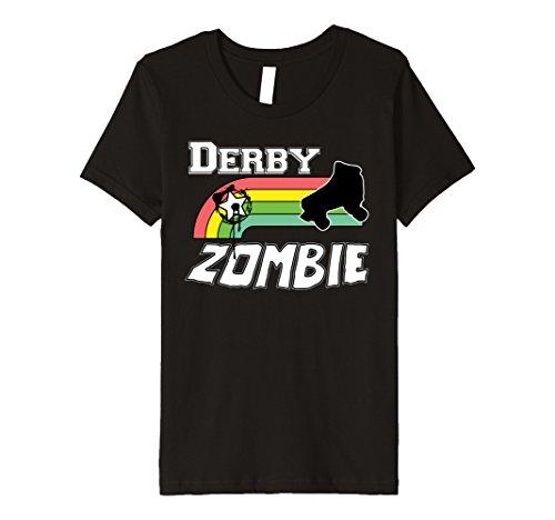 Roller Girl Costume Ideas (Kids Roller Derby Zombie Halloween Costume T Shirt 12 Black)
