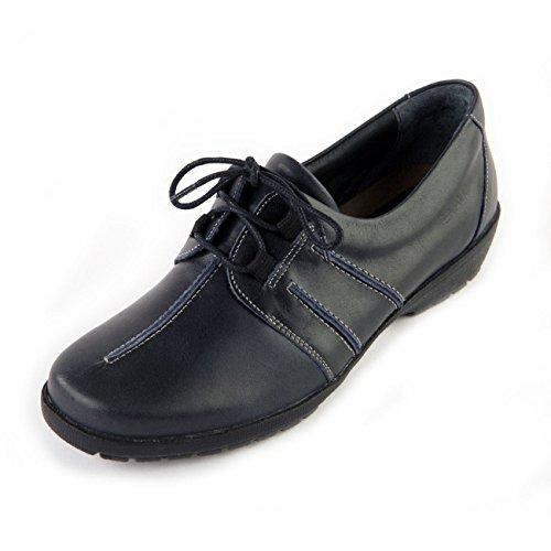 marino cordones Otra Zapatos para Piel de azul Suave de mujer IqzEga