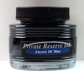 Private Reserve 66ml Electric DC Blue Bottled Ink - PR-37-EB