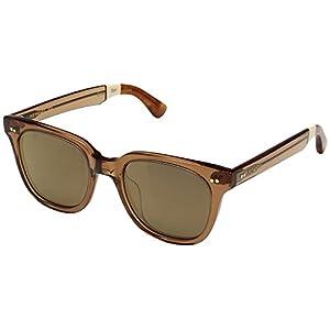 TOMS Unisex Memphis 201 Ash Brown Crystal Sunglasses