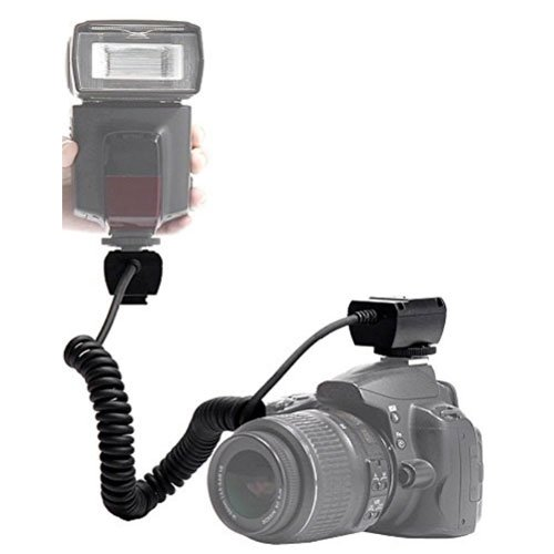 TTL Off Camera Shoe Cord for Canon SL1 T5 T3 T6s T6i T5i T4i T3i T2i T1i Xsi XS EOS M 60D 70D 7D 6D 5D Mark II 5D Mark III DSLR Cameras Which Have Any Of These (600EX RT, 600EX, 580EX I & II, 430EX I & II, 320EX, 270EX, 220EX) Canon Speedlite Flashes + po