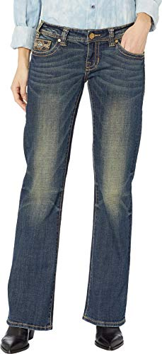 Rock and Roll Cowgirl Women's Riding Bootcut Jeans in Dark Vintage W7-8720 Dark Vintage 31 ()