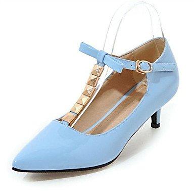 KYDJ @ Mujer-Tacón Stiletto-Confort Innovador-Tacones-Boda Informal Fiesta y Noche Vestido-Purpurina Materiales Personalizados Semicuero-Azul beige