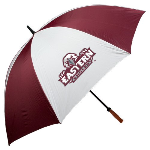 Eastern 62 Inch Maroon/White Umbrella 'Official Logo' by CollegeFanGear