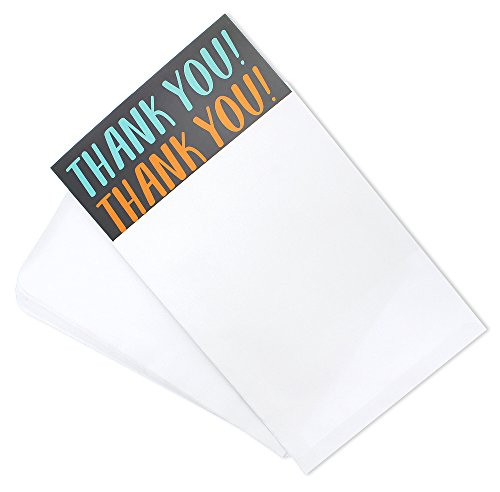 12 Pack Jumbo Thank You Greeting Cards, 6 Assorted Multicolor Designs, Bulk Box Set Variety Assortment, Envelopes Included, 8.5 x 11 Inches Photo #3