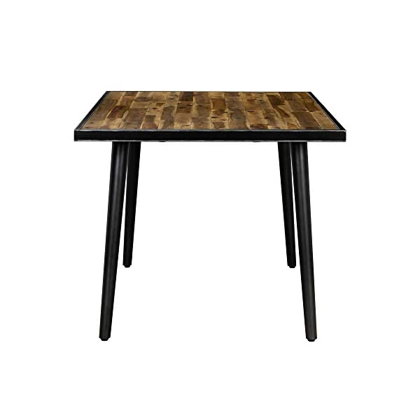 """Cusco Acacia Rustic Farmhouse Dining Room Kitchen Table, 71"""" Wide, Antique"""