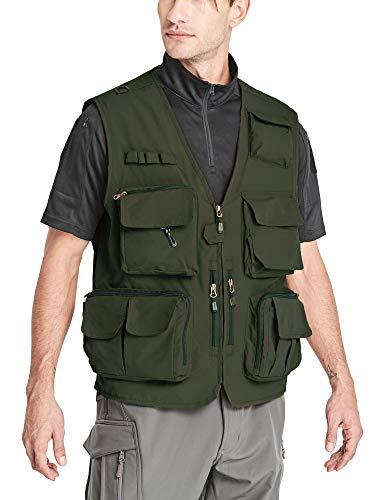 MAGCOMSEN Men's Safari Vest Fishing Vest Hunting Vest Photo Vest Hiking Vest Climbing Vest Trekking Vest Summer Vest Work Vest Breathable Vest from MAGCOMSEN