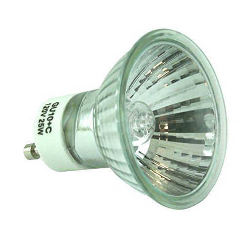 ESSENZA Wax Warmer Halogen Replacement Bulb - 120v AC, 60Hz, 25W/ GU10+C/GZ10+C (25 Watt Halogen Bulb For Wax Warmer)