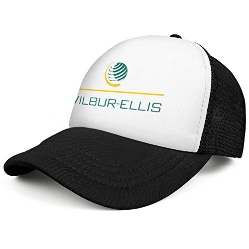 - Mens and Womens Wilbur Ellis Logo - Washington State Trucker Flat Baseball HatAll Cotton Curved