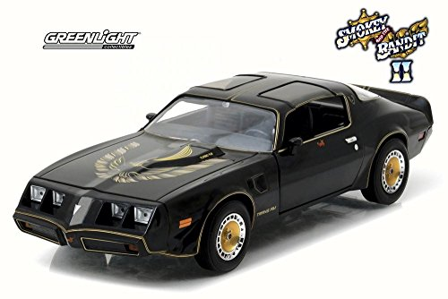 (GREENLIGHT 1:24 HOLLYWOOD - SMOKEY AND THE BANDIT II - 1980 PONTIAC TRANS AM BLACK DIECAST TOY CAR 84031-12)