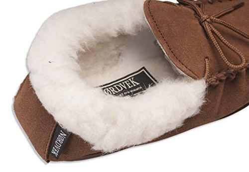 1febbccaef62c Nordvek - Pantoufles style mocassin - femme - revers en laine et semelles  rigides -   417-100  Amazon.fr  Chaussures et Sacs