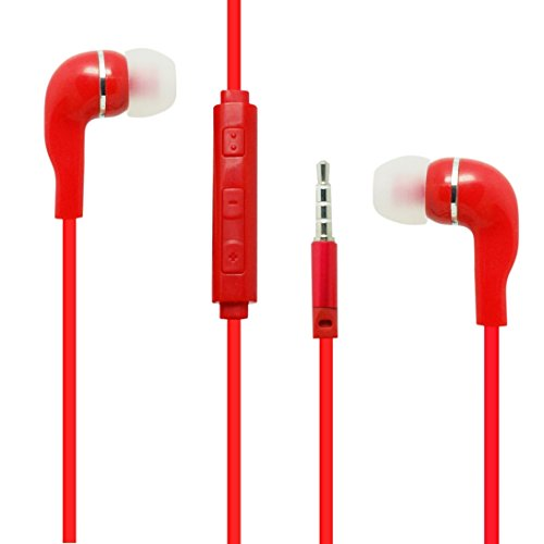Red Color 3.5mm Audio Earphone Headphones Headset Earbuds Vo
