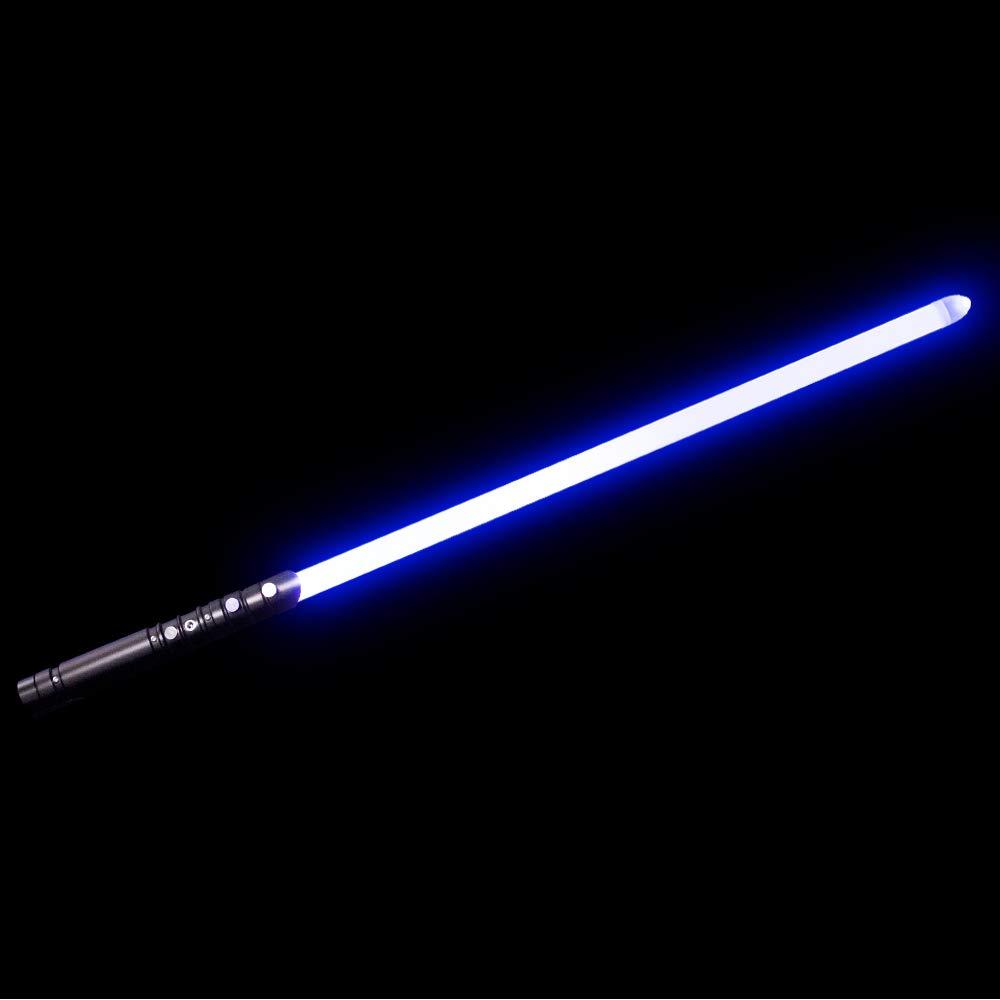 YDD Yddsaber Fx Lightsaber Toy Star Wars Saber Force Lightsaber with Sound and Light, Metal Hilt (Black hilt Blue Blade) by YDD (Image #1)