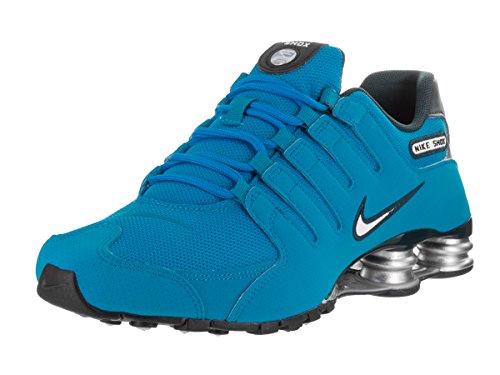 Nike Mens Shox NZ Mesh Trainers Blue