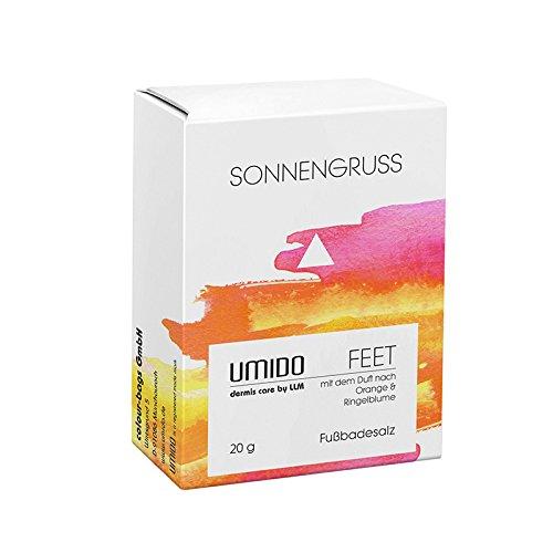 UMIDO Fußbadesalz mit dem Duft nach Orange & Ringelblume, Badezusatz für Füße, Badesalze zur Hygiene und Pflege bei Fußpilz, Nagelpilz, Schweißfüßen, Fußgeruch, für eine tägliche Fußpflege, 1 x 20 g für ein Fußbad (2.) Fußgeruch Colour-Bags