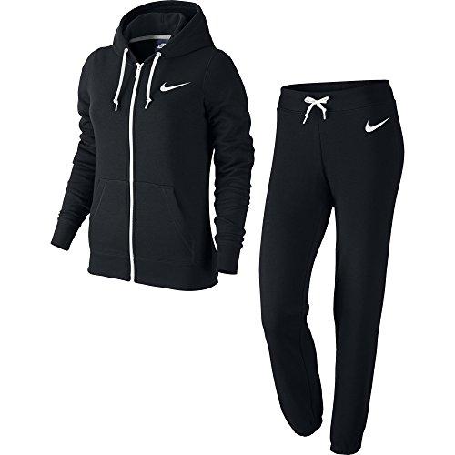 Nike Damen Trainingsanzug Club Ft L Negro / Blanco (Black/Black/White)