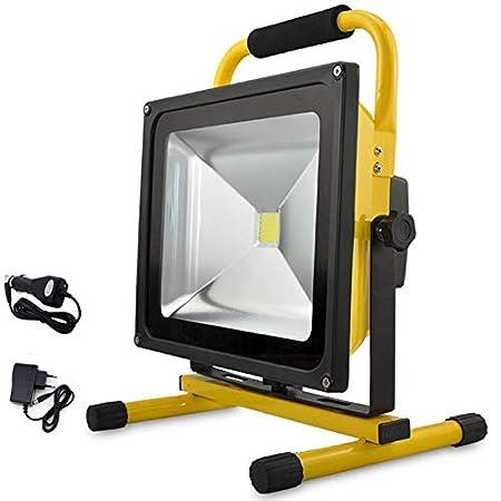 EFGS Foco LED Proyector, Lámpara Camping 50W, Luz Portátil para ...