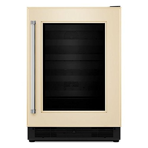 KitchenAid® 24'' Panel Ready Wine Cellar with Glass Door and Wood-Front Racks