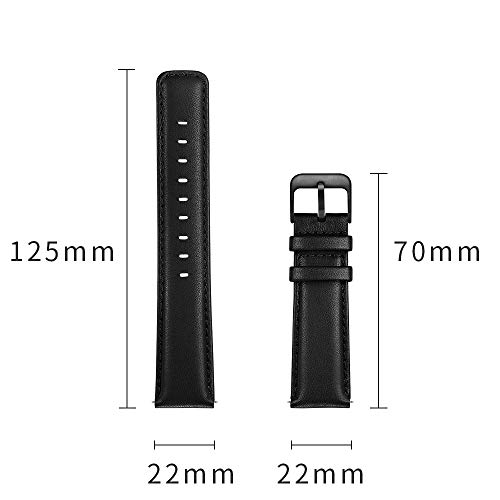 22mm Watch Band, LEUNGLIK Quick Release Leather Watch Strap Replacement Bands with Black/Brown/Gray Stainless Pins Clasp by LEUNGLIK (Image #1)