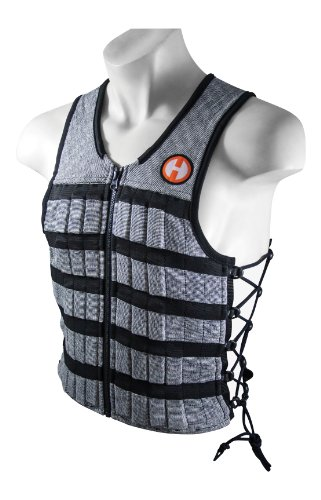 Hyperwear Hyper Vest PRO Unisex 10-Pound Adjustable Weighted Vest for Fitness Workouts, Large, Grey