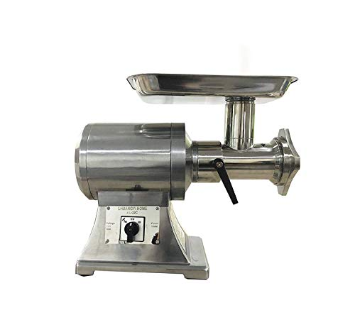 CHUANGYI HOME Meat Grinder Electric 750W Commercial Sausage Stuffer Maker Stainless Steel 220 RPM 1.0HP for Industrial and Home Use ()