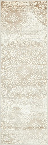 Unique Loom 3138661 Sofia Collection Traditional Vintage Beige Area Rug, 2' x 7' Runner, (Runner 7 Ft)
