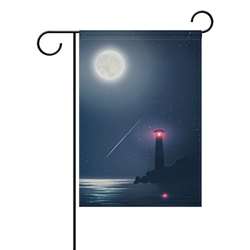 SPECIALHODE Ethel Ernest Double Sided Family Flag Cool Lighthouse Galaxy Night Polyester Outdoor Flag Home Party Decro Garden (Personalized Lighthouse)