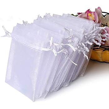 Amazon.com: Mudder Organza Gift Bags Wedding Favour Bags ...
