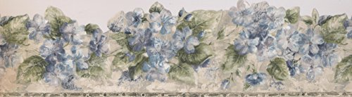 Green Floral Wallpaper Border - Green Silver Blue Floral Wallpaper Border 76266 ED