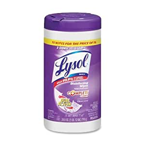 Amazon Com Lysol R Dual Action Disinfecting Wipes