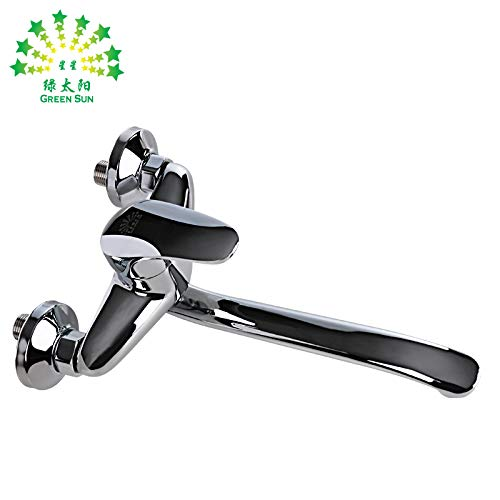 Commercial Single Lever Pull Down Kitchen Sink Faucet Brass Constructed Polished Kitchen sink hot and cold adjustable tap 360° rotating stainless steel elbow plated copper length tube, cp-152
