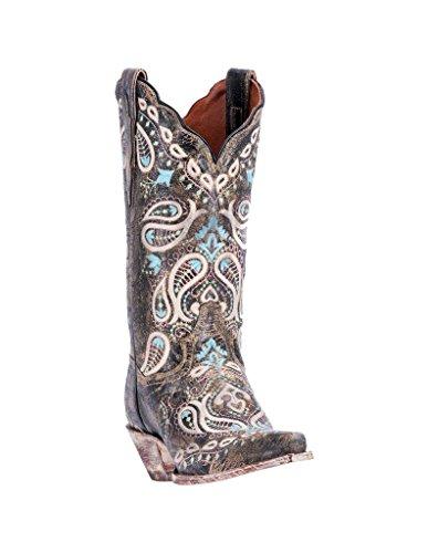 Dan Post Western Boots Womens Julissa Snip 7 M Chocolate DP4023