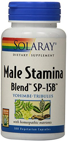 Dual Action Prostate Formula - Solaray Male Stamina Blend SP-15B Capsules, 100 Count