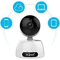 WIFI Security Camera, INSMA 1080P HD Wireless IP Camera with Two Way Audio, Night Vision, Motion Detect, Remote Control Security Monitor for IOS and Android