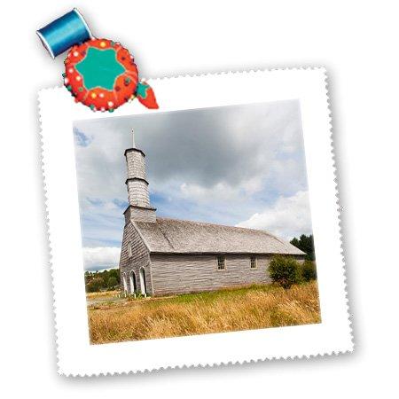Danita Delimont - Churches - Chile, Chiloe Island, Compu, Capilla de Compu church. - 25x25 inch quilt square (qs_209490_10)