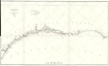 Map Of Florida Georgia South Carolina.Amazon Com Georgia South Carolina Nc Fl Coast Uscgs Cape Fear St