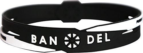 BANDEL(반델)  크로스 팔찌 (블랙 × 화이트) M 사이즈 : 17.5cm 2017 년 모델