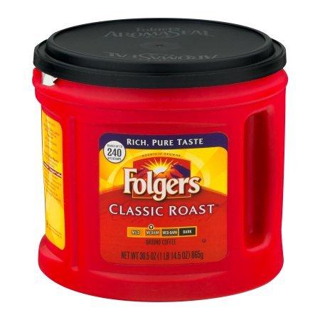 Folgers Classic Roast Ground Coffee, Medium