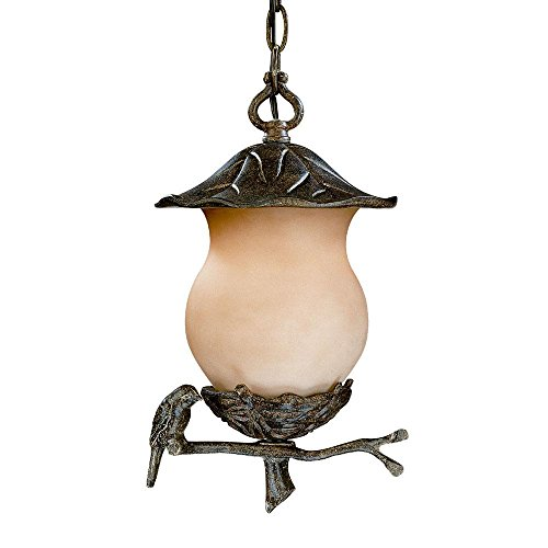 Cheap Acclaim 7566BC/CH Avian Collection 2-Light Outdoor Light Fixture Hanging Lantern, Black Coral